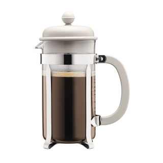 French press 1 l, bílý, CAFFETTIERA - BODUM