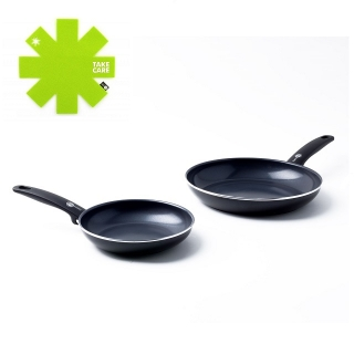 Sada pánví 20cm + 28cm CAMBRIDGE BLACK - GREENPAN + DÁREK